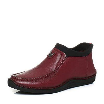 Belle/百丽2017冬季牛皮/纺织品男休闲靴88005DD7