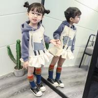女宝宝秋冬款新款加厚加绒洋气连衣裙童装女童卫衣裙01-2岁3裙子