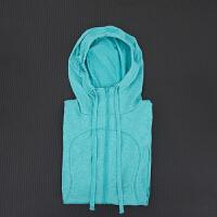 秋冬新款瑜伽服女运动长袖开衫外套健身跑步速干拉链帽衫