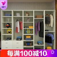 现代简约经济型衣柜衣帽间组合大衣橱无门转角柜卧室家具木质简易 单门