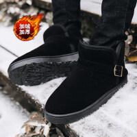 雪地靴男冬季保暖加绒加厚棉鞋韩版潮流马丁靴男靴大码情侣面包鞋srr
