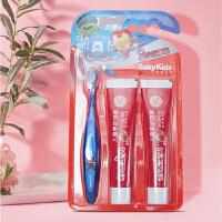 舒客宝贝护齿1+2优惠套装 儿童健齿牙刷1支+儿童养护牙膏80g*2支