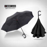 家居生活用品免持式双层雨伞反向伞全自动德国超大车用可站立长柄伞男女车载伞