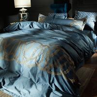 美式棉四件套 海岛棉刺绣长绒棉欧式六件套样板房床上用品