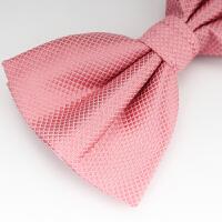婚礼新郎伴郎英伦粉红色蝴蝶结领花领结潮男士正装西服领结