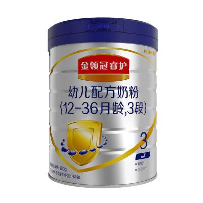 伊利 金领冠菁护(呵护)幼儿奶粉 3段 900g 1桶α+β创新配方 、含核苷酸