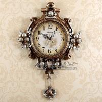 创意复古挂钟客厅静音家用现代个性艺术石英钟装饰简约欧式时尚表 18英寸