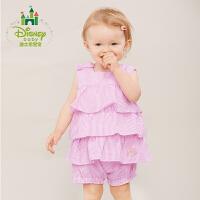 迪士尼(Disney)童装夏季女童上衣肩开扣宝宝背心蛋糕摆娃娃衣162S761