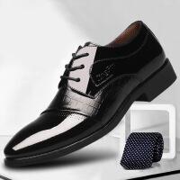 尖头皮鞋男上班工作鞋新款时尚流行男士商务正装男鞋系带尖头鞋子男低帮潮流鞋0063ZL