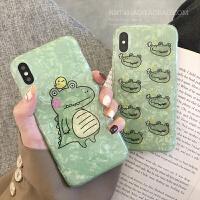 鳄鱼图案苹果X手机壳iphone xs max/xr/6可爱创意7/8plus少女新款 iPhone Xs Max【一