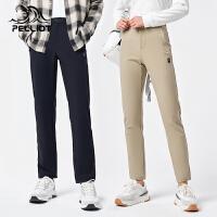 伯希和户外软壳裤2021秋季新款男女防风透气防泼水登山长裤冲锋裤