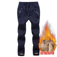 冬季男士加绒加厚运动裤保暖羊羔绒直筒裤休闲卫裤男宽松棉裤裤子