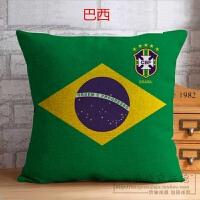18俄罗斯世界�抱枕德棉麻沙发靠垫套阿根廷足球迷装饰礼品