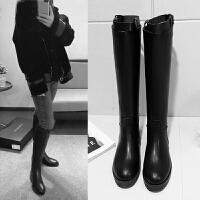 �T士靴女英��秋冬新款高筒�R靴皮靴�L靴�L筒靴���馄降字蓖惭�SN3392