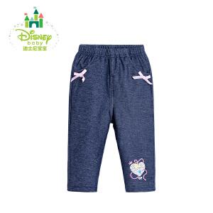 【3件4折】迪士尼Disney童装女童裤子儿童秋装新品女宝宝休闲百搭长裤173K772