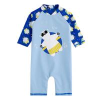 儿童防晒泳衣男女童宝宝连体婴儿游泳套装小童速干冲浪服