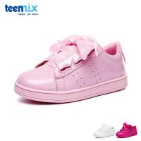 百丽天美意teenmix童鞋糖果色女童滑板鞋儿童运动鞋时尚女孩休闲鞋板鞋 (6-12岁可选)