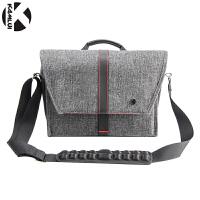 单反摄影包80D单肩200D便携男100D佳能750d6d2尼康5D4相机袋 黑灰色