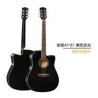 吉他初学者男女学生新手入门练习40寸41寸单板木吉他亮光民谣jita