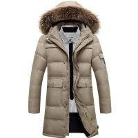 2016新款外贸男装男士加厚长款羽绒服大码 男款羽绒服外套 1015