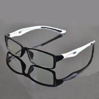 光学运动款眼镜框打篮球超轻TR90个性全框架防滑黑配近视眼镜男潮