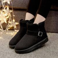 雪地靴女冬短筒韩版新款加绒短靴百搭学生可爱鞋子女鞋棉鞋