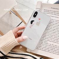 透明卡通壳6s苹果x手机壳XS Max/XR/iPhoneX/8plus/7p女款iphone6 6/6s 爱心丸子