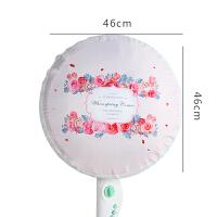 韩式卡通布艺风扇罩台式落地式电风扇防尘罩圆形全包风扇罩风扇套 F 花朵