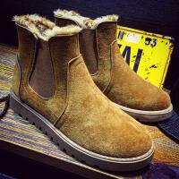 雪地靴男冬季保暖棉靴韩版百搭短靴加绒棉鞋二棉靴子男高帮