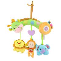 ?婴儿横杆式车挂床挂宝宝摇铃婴儿床挂床头铃带牙胶响纸玩具?