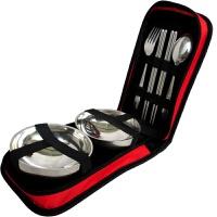 便携旅行餐具套装户外折叠碗旅游用品野餐野外野营饭盒叉勺