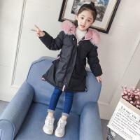 货比迪士尼巴拉巴拉等女童2018新款韩版洋气儿童中大童棉衣秋冬季中长款棉袄外套潮