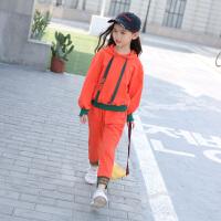 女童运动套装洋气春装2018新款韩版潮衣大童春秋儿童装卫衣两件套