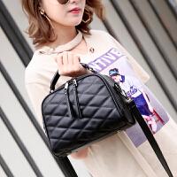 韩版女包包新款时尚菱格包包手提包百搭流苏单肩包斜挎包小包 黑色 预售3月5号发货