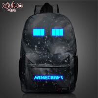 我的世界双肩包书包男女小学生Minecraft周边苦力怕背包星空
