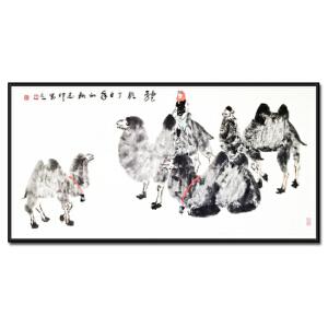 中国美术家协会会员 杨志印 《驼铃》
