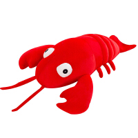 可爱创意龙虾毛绒玩具暖手抱枕公仔大布娃娃睡觉玩偶女孩生日礼物 红色