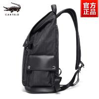 男士双肩包商务休闲电脑帆布背包旅游旅行包时尚潮流书包