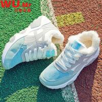 乌龟先森 运动鞋 女士秋冬新款韩版加绒运动鞋女式保暖旅游平底学生休闲鞋子