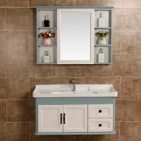 恒尔卫浴碳纤维浴室柜镜柜组合套装吊柜送龙头洗手池洁面陶瓷脸盆