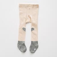 儿童连裤袜白色大PP男女童打底裤小童幼儿婴儿宝宝袜子0-6-个月