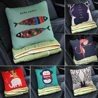 汽车抱枕被子两用沙发靠垫办公室枕头空调被多功能折叠靠枕腰靠
