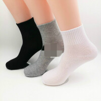 袜子一次性男士棉袜秋冬款中筒学生袜便宜男短袜 纯色 中筒运动 3色搭配