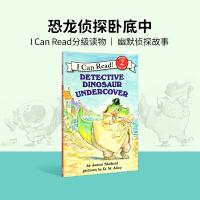 小豆豆英文童书 Detective Dinosaur Undercover 恐龙侦探卧底中 英文原版绘本 I Can R