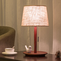 北欧台灯卧室简约现代美式创意结婚复古温馨日式实木质小床头柜灯