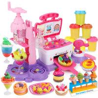 无毒橡皮泥女孩彩泥超轻粘土手工泥模具工具套装儿童冰淇淋机玩具