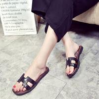 ELEISE美国艾蕾莎新品156-123J韩版塑料平跟女士拖鞋