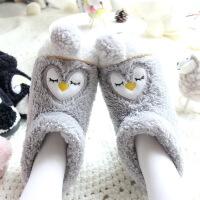 【】冬季棉拖鞋女包跟厚底保暖月子鞋可爱卡通情侣拖鞋