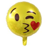 18寸圆笑脸铝膜气球 卡通包生日铝箔气球 拍照道具