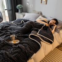 棉毯 冬天三层珊瑚绒毯子冬季羊羔绒毛毯被子加厚保暖单人学生宿舍小午睡毯 200*230cm(绒感细腻 加厚保暖)